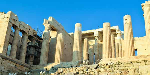 The entrance at the Acropolis