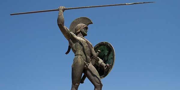 The statue of King Leonidas
