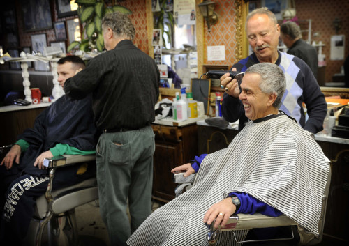 Darkroom post on neighborhood barbershop
