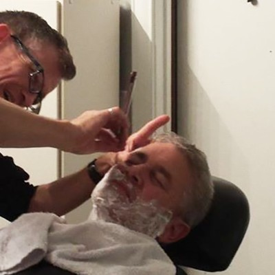 First barber shave for my big bro!