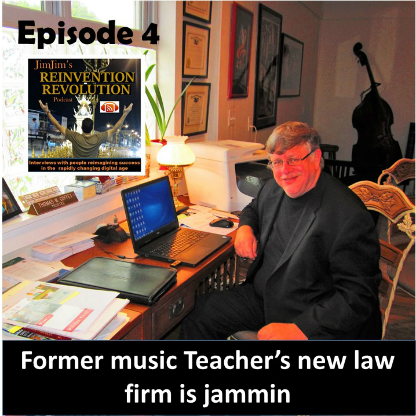 Read more about the article JJRR Ep4 Former music teacher's law firm is jammin' with Tom Coffey