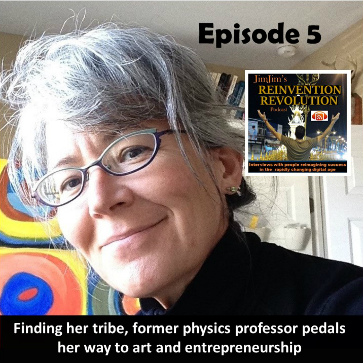 Read more about the article JJRR Ep5  Finding her tribe, former physics professor pedals her way  to art and entrepreneurship with Maria Falbo