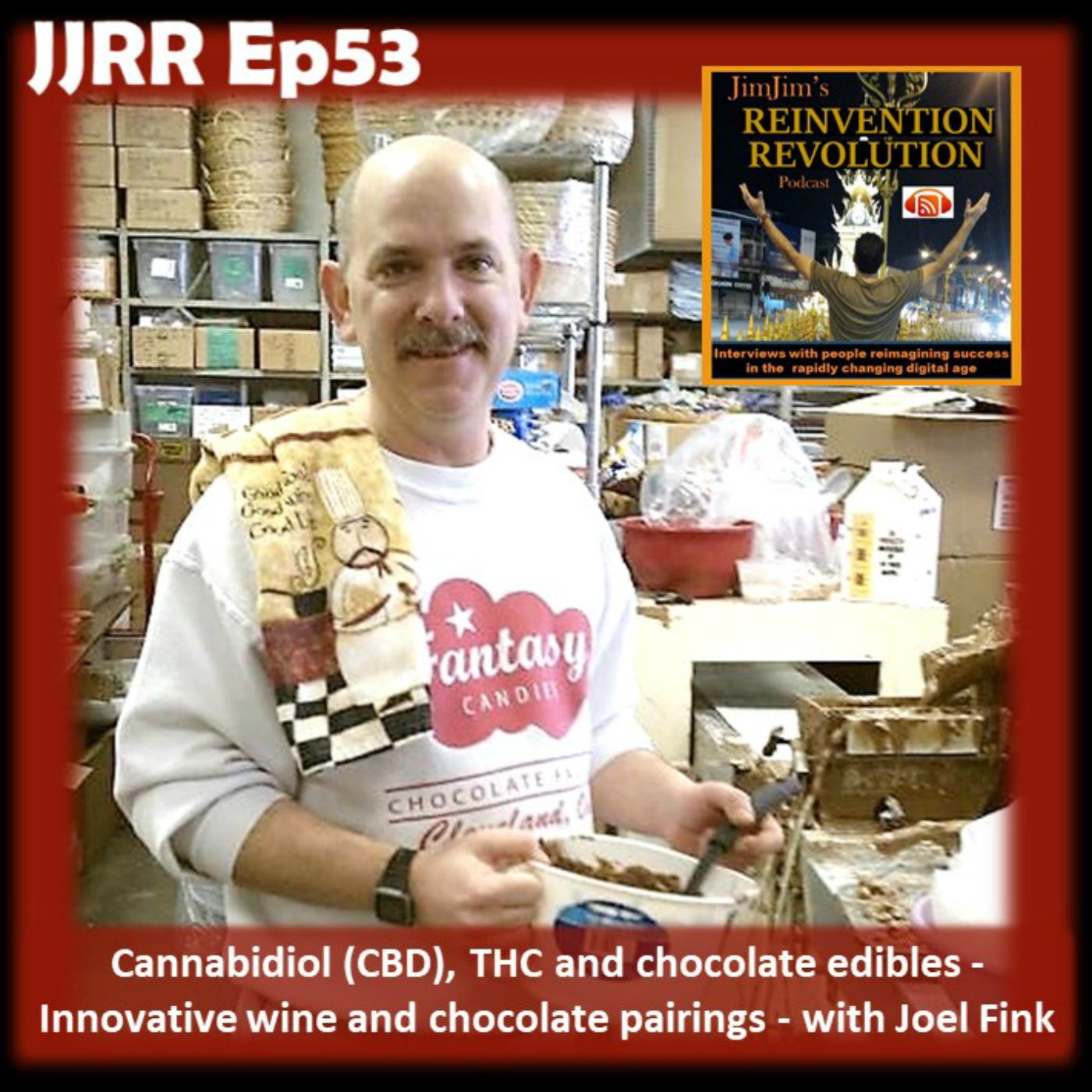 Read more about the article JJRR Ep53 Cannabidiol (CBD), THC and chocolate edibles – Innovative wine and chocolate pairings –  with Joel Fink