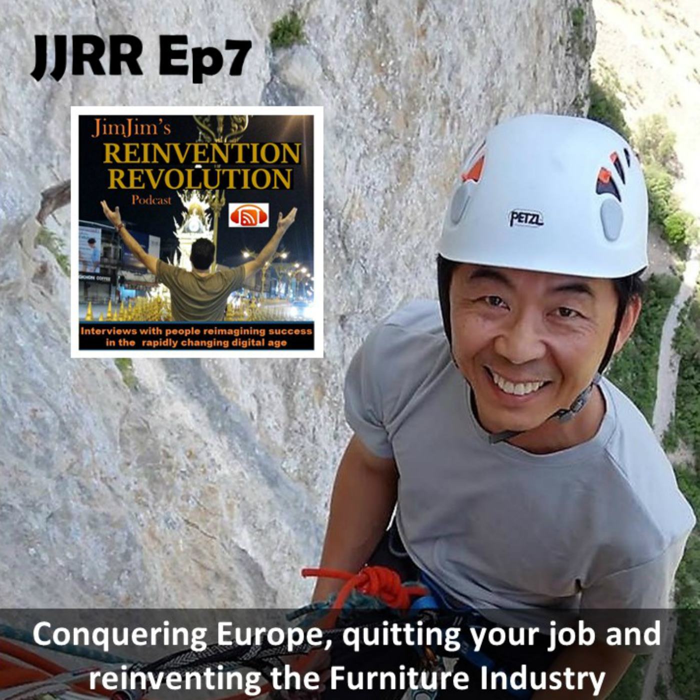Read more about the article JJRR EP7  Conquering Europe, quitting your job and reinventing the furniture industry with Tino Go