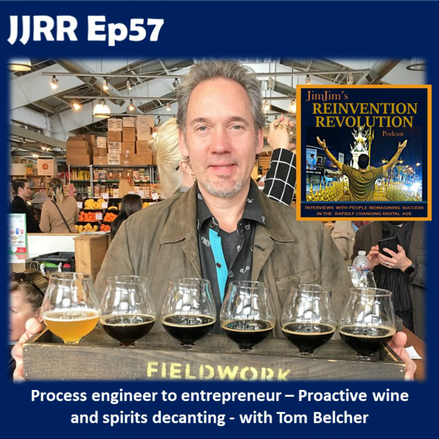 Read more about the article JJRR 57 Process engineer to Entrepreneur – Proactive wine and spirits decanting – with Tom Belcher