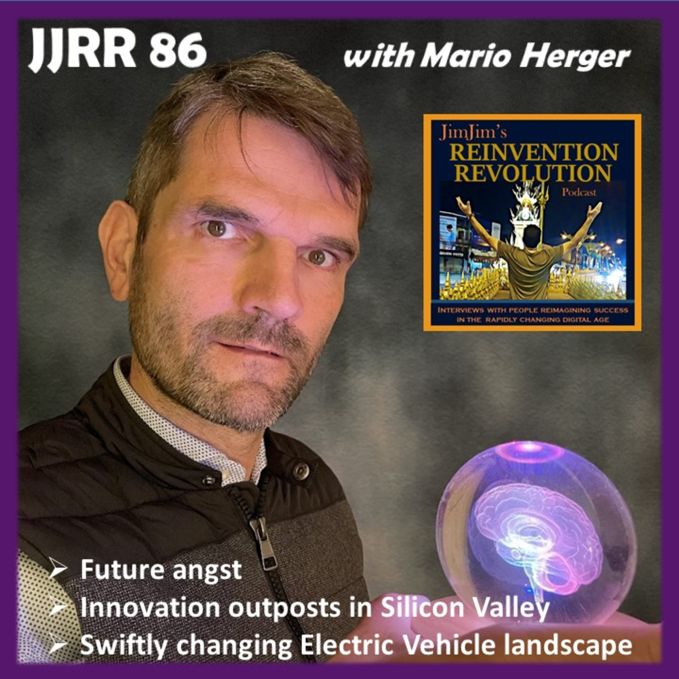 Read more about the article JJRR 86 – Future angst – Innovation outposts in silicon valley – Self driving EVs