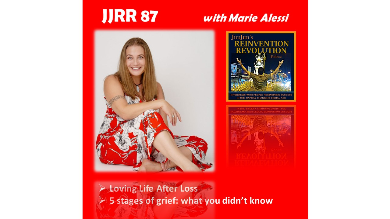 Read more about the article JJRR 87 Loving Life After Loss – 5 stages of grief: what you didn't know – with  Marie Alessi