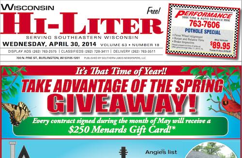 Wisconsin Hi-Liter 4/30/14