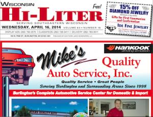 Wisconsin Hi-Liter 4/16/14
