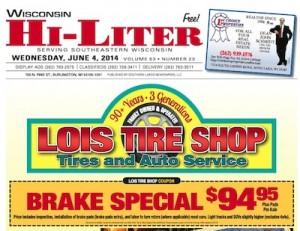Wisconsin Hi-Liter 6/4/14