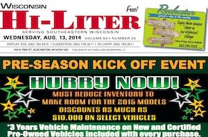 Wisconsin Hi-liter for 8/13/14