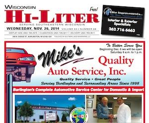 Wisconsin Hi-Liter for 11/26/14