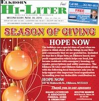 Elkhorn Hi-Liter for 11/30/2016