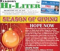 Elkhorn Hi-Liter for 12/28/2016