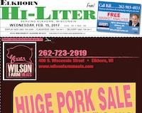 Elkhorn Hi-Liter for 2/15/2017