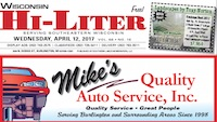Wisconsin Hi-Liter for 4/12/2017