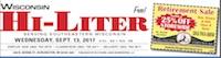 Wisconsin Hi-Liter for 9/13/2017