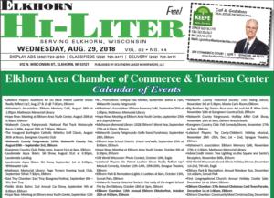 Elkhorn HiLiter for 8/29/2018