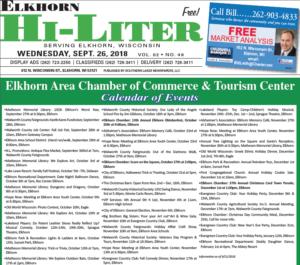 Elkhorn HiLiter for 9/26/2018