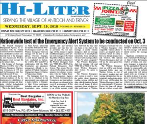 Illinois HiLiter for 9/19/2018