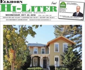Elkhorn HiLiter for 10/24/2018