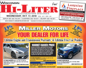 Wisconsin HiLiter for 10/17/2018