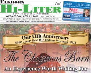 Elkhorn HiLiter for 11/21/2018