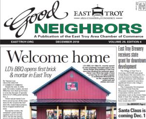 East Troy Good Neighbors, Nov. 2018