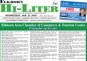 Elkhorn HiLiter for 1/23/2019