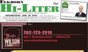 Elkhorn HiLiter for 1/30/2019