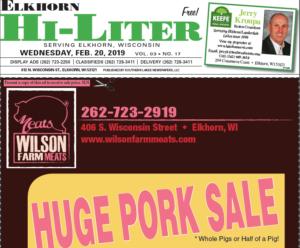 Elkhorn HiLiter for 2/20/2019