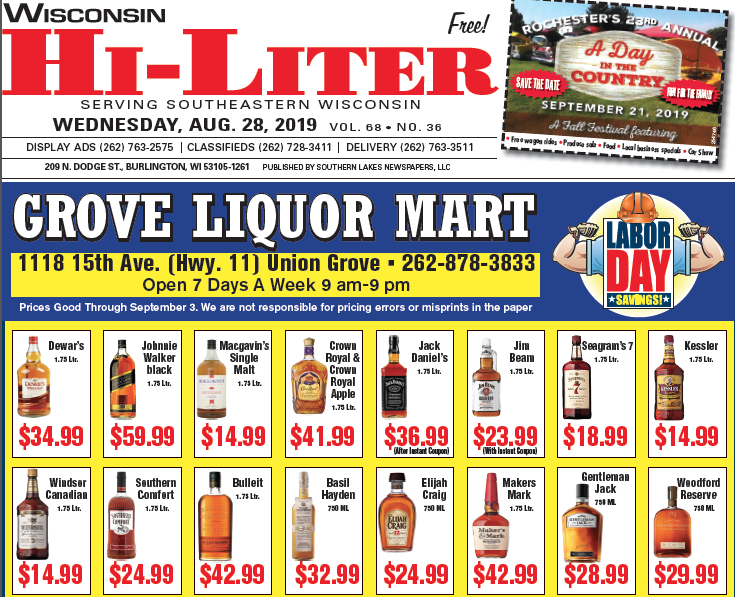 Wisconsin HiLiter for 8/28/2019