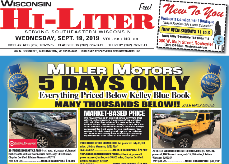 Wisconsin HiLiter for 9/18/2019