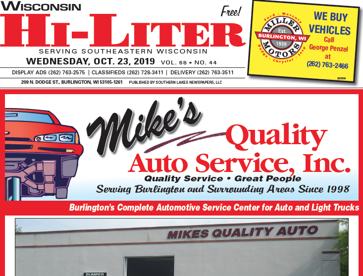 Wisconsin HiLiter for 10/23/2019
