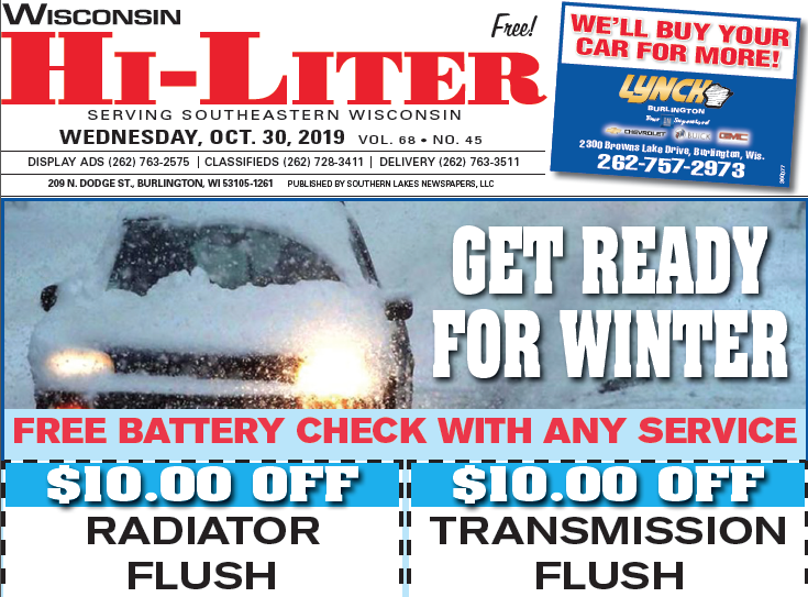 Wisconsin HiLiter for 10/30/2019