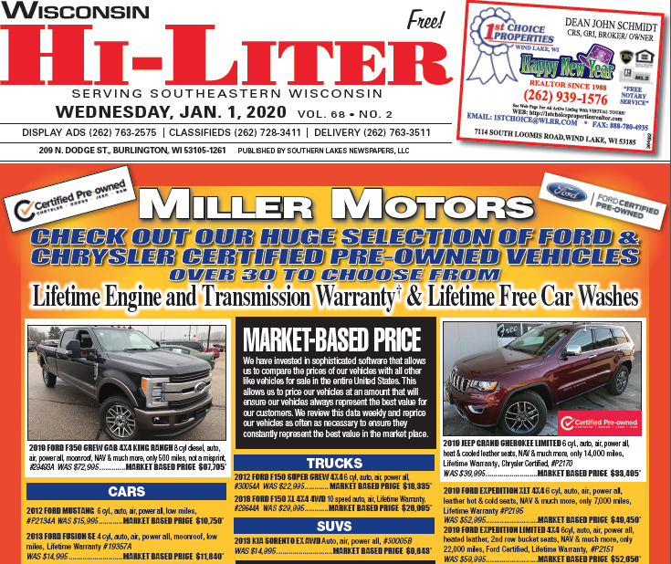 Wisconsin HiLiter for 1/1/20