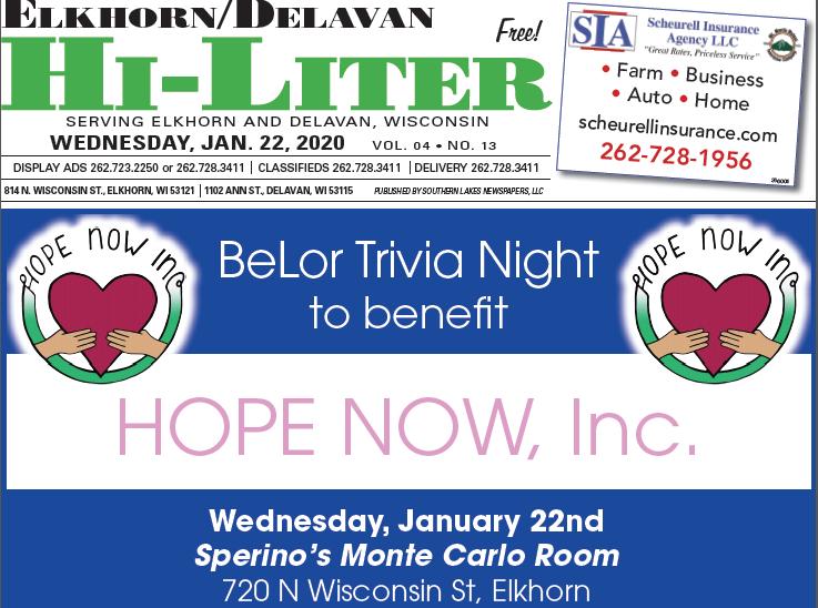 Elkhorn/Delavan HiLiter for 1/22/20