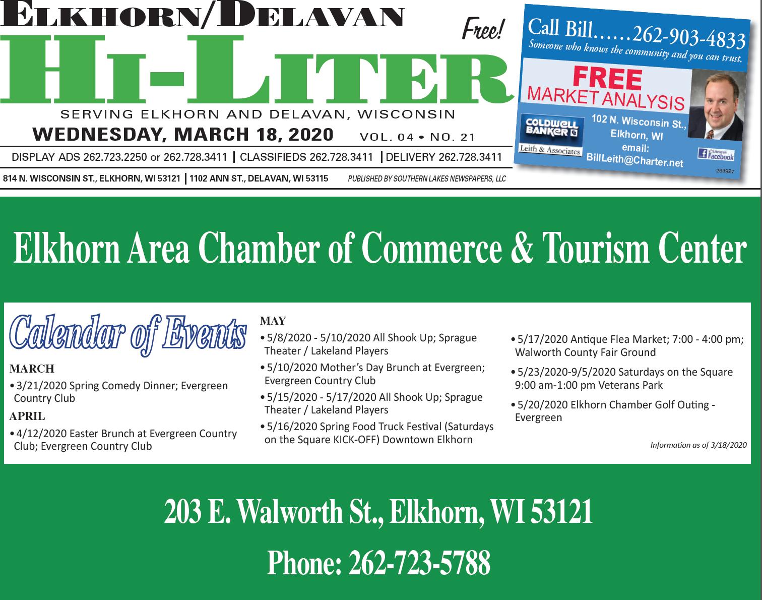 Elkhorn/Delavan HiLiter for 3/18/2020