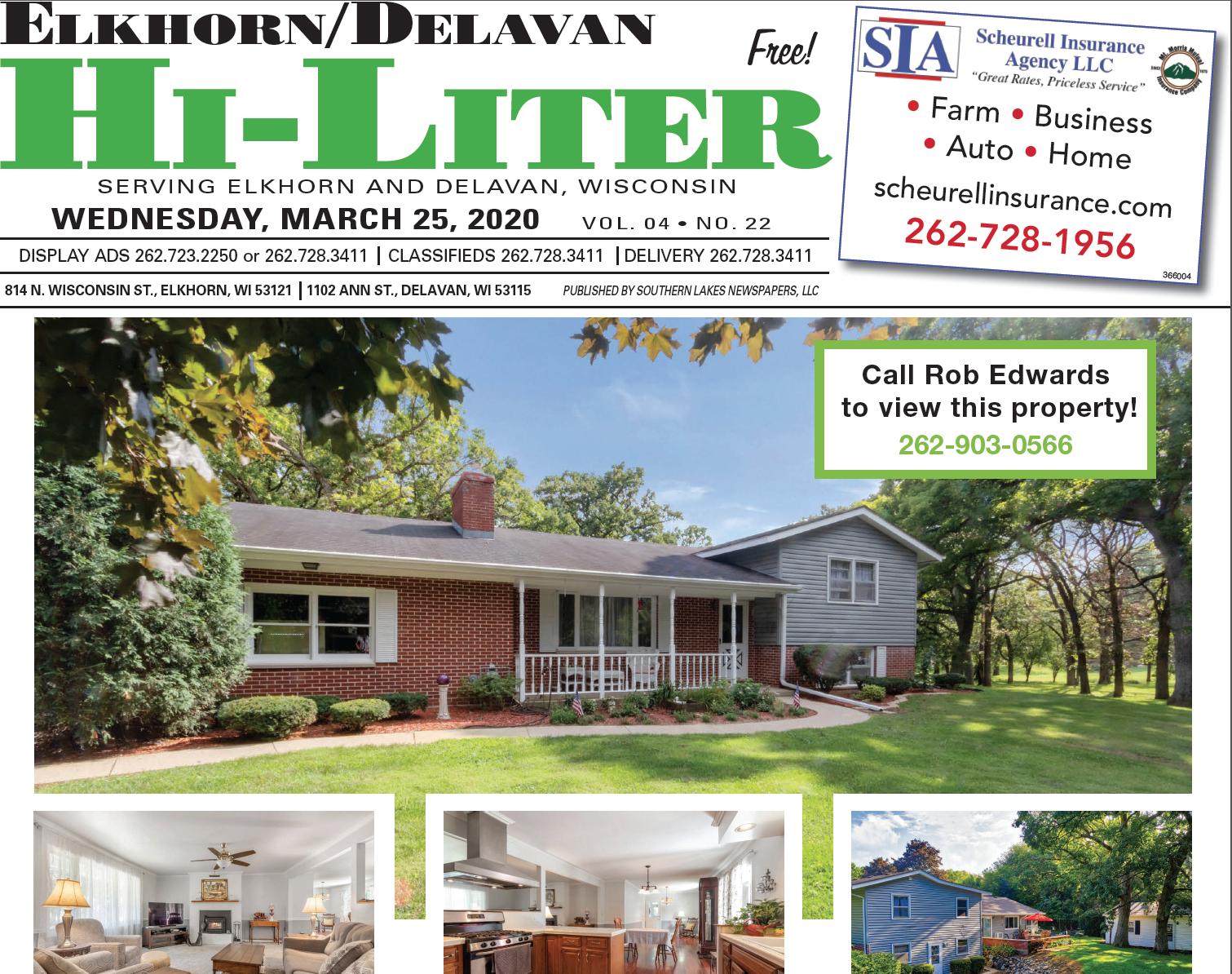 Elkhorn/Delavan Hiliter for 3/25/2020