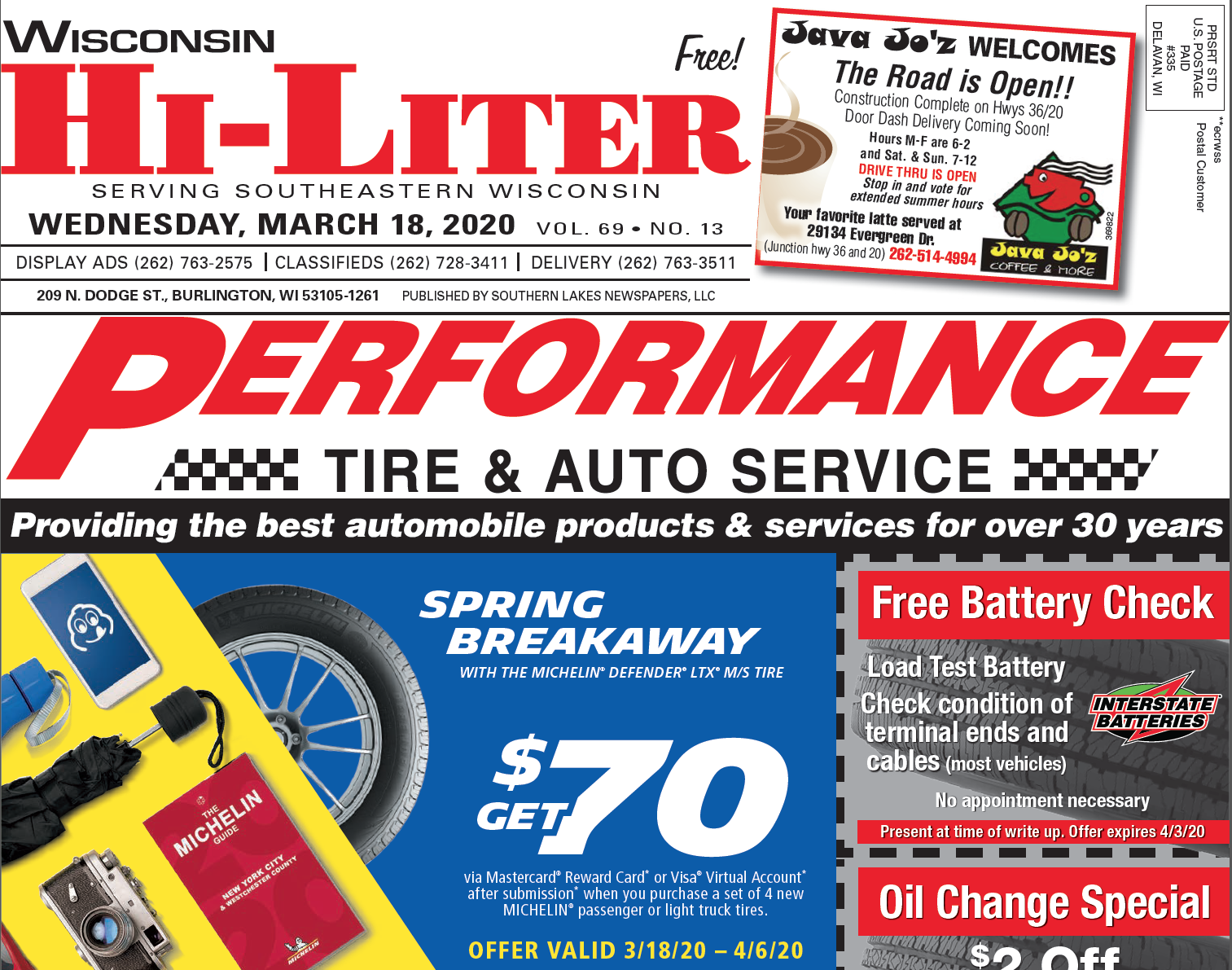 Wisconsin Hiliter for 3/18/20