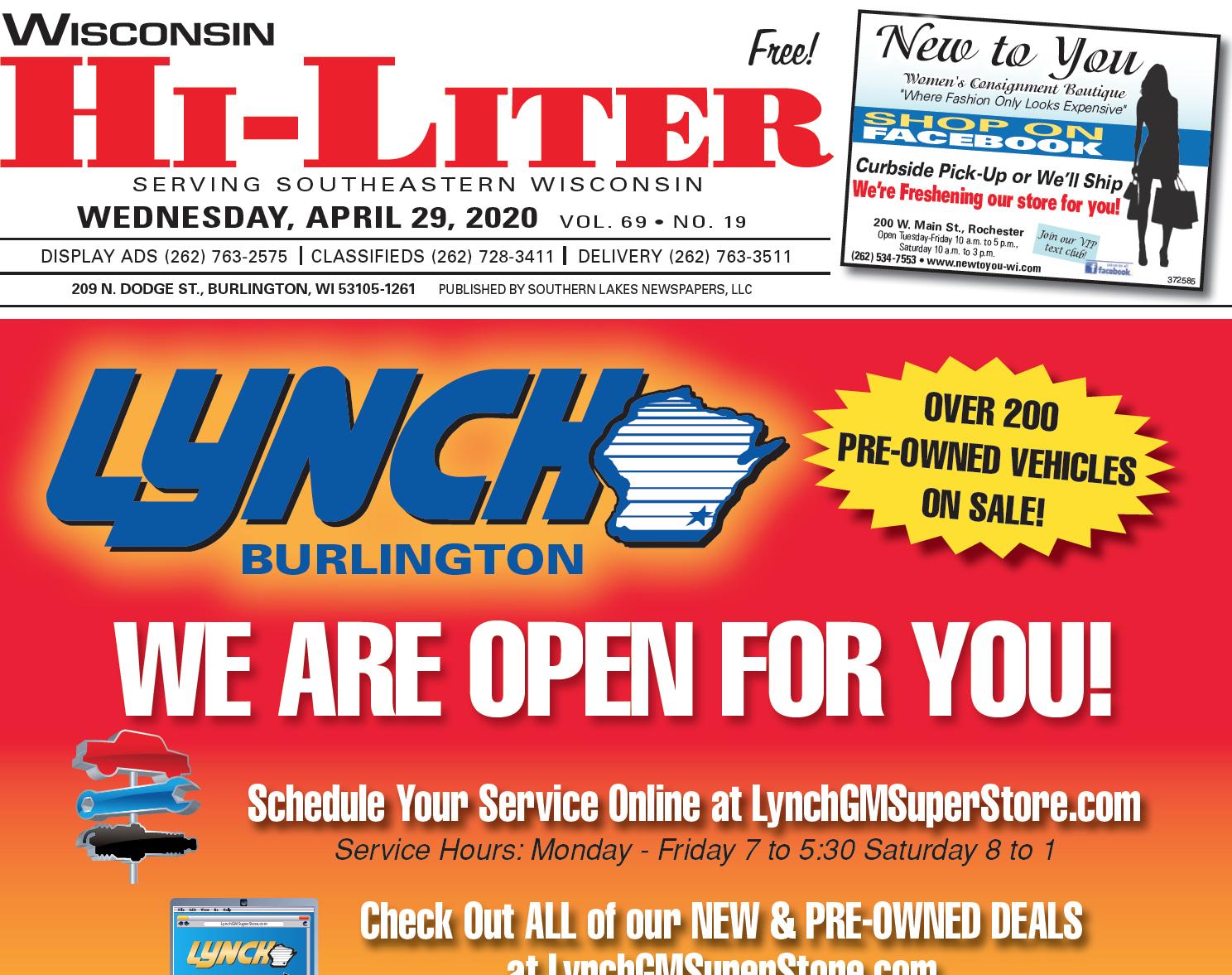 Hi-Liter Wisconsin 4/29/2020
