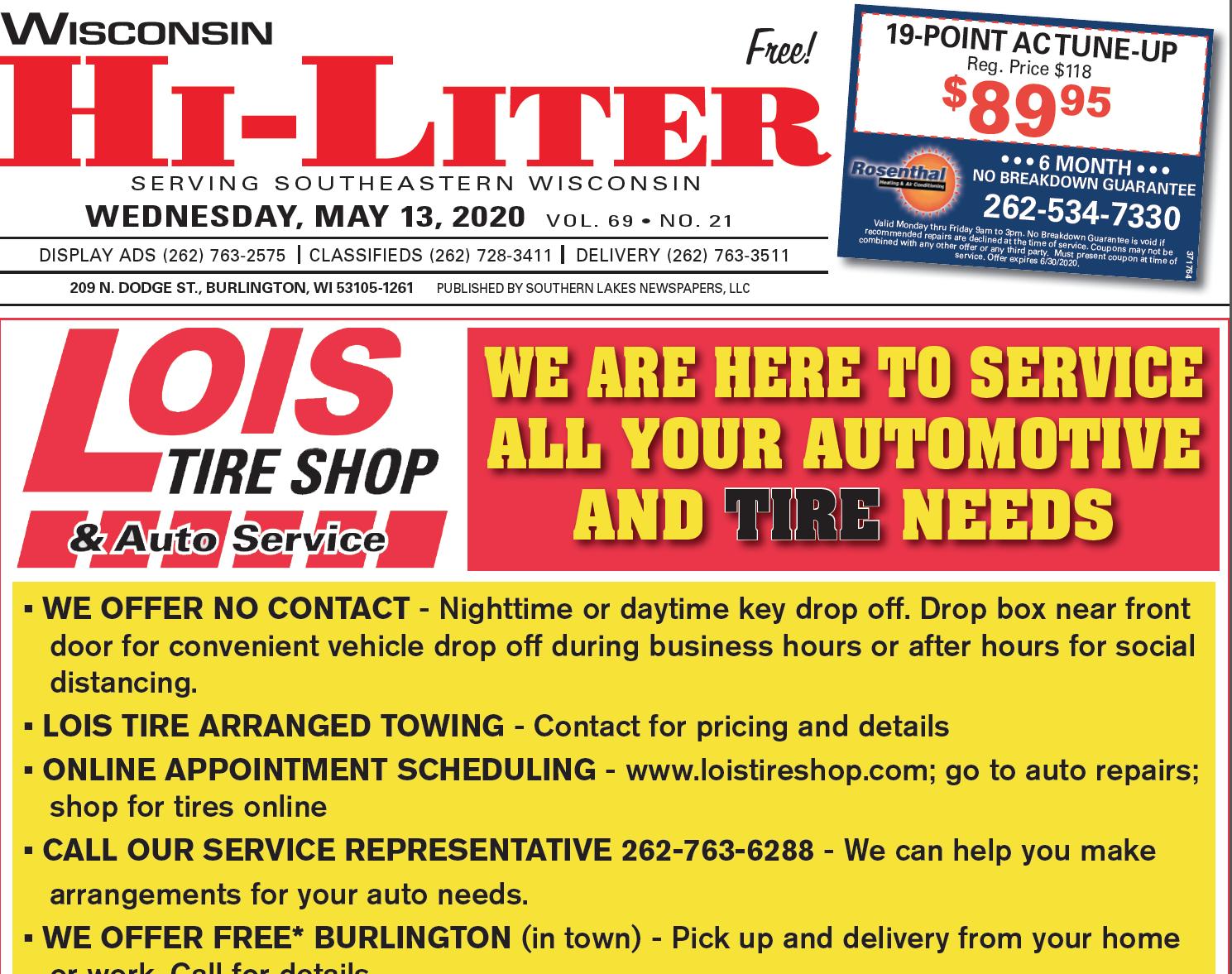 Hi-Liter Wisconsin 5/13/2020