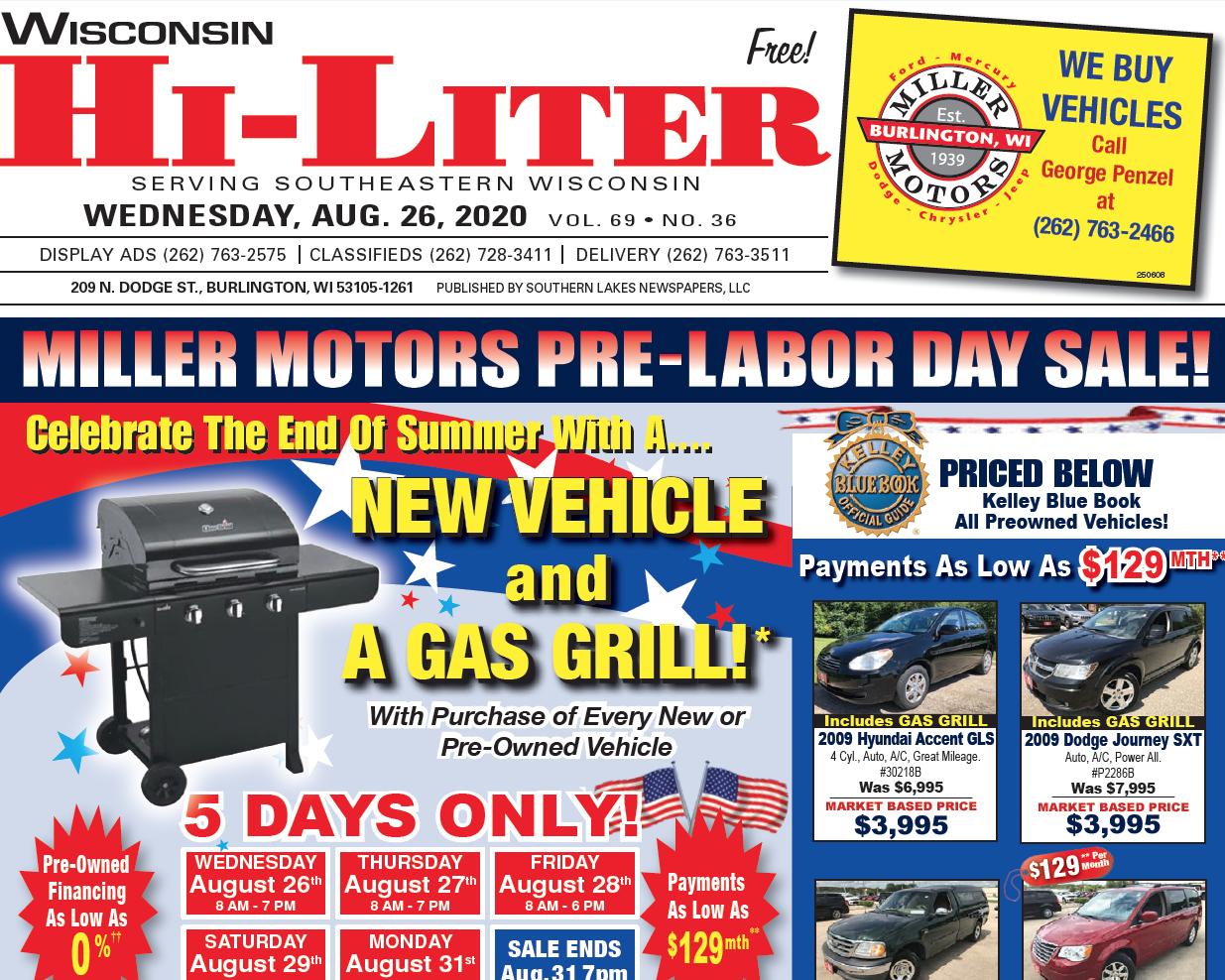 Hi-Liter Wisconsin 8/26/2020
