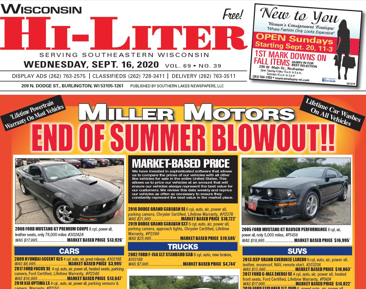 Hi-Liter Wisconsin 9/16/2020