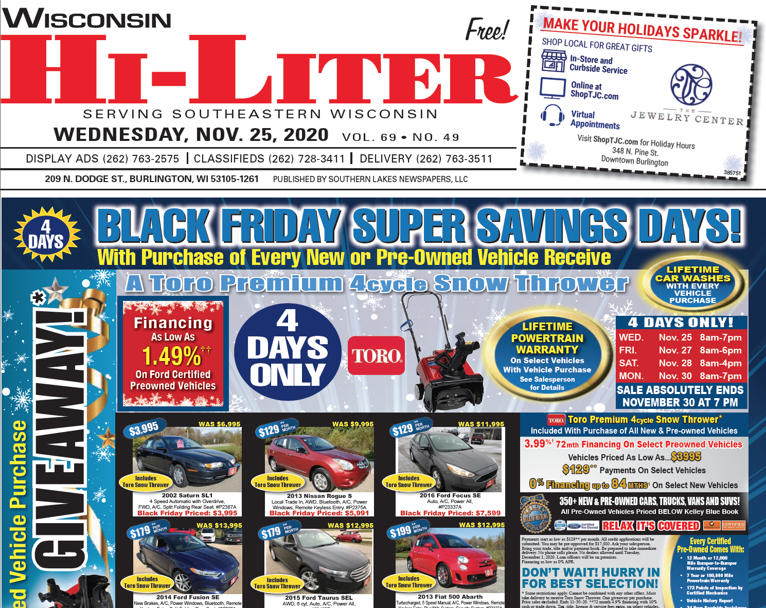 Hi-Liter Wisconsin 11/25/2020