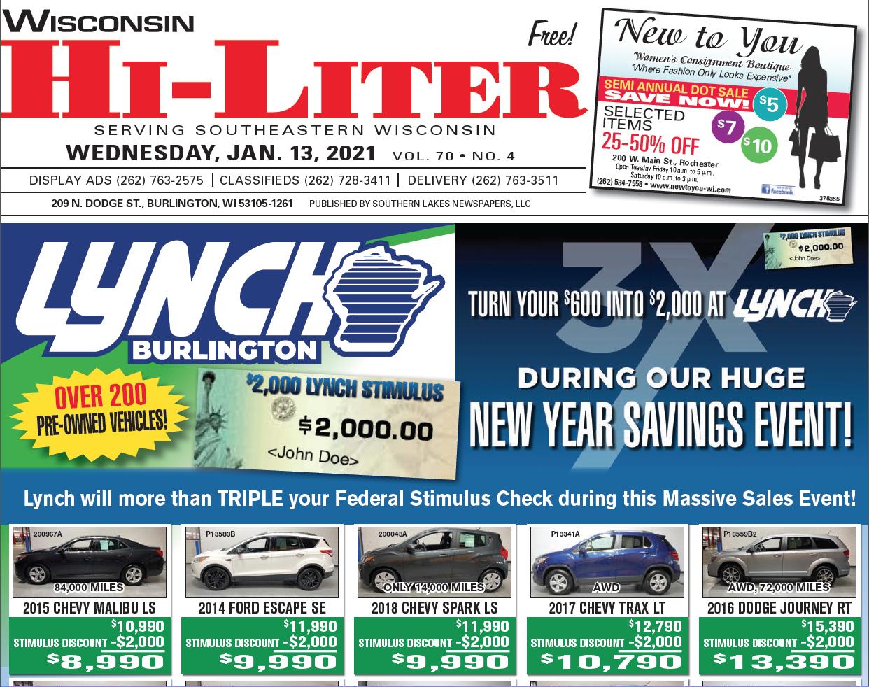 Hi-Liter Wisconsin 1/13/2021