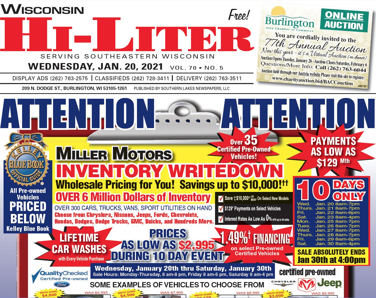 Hi-Liter Wisconsin 1/20/2021