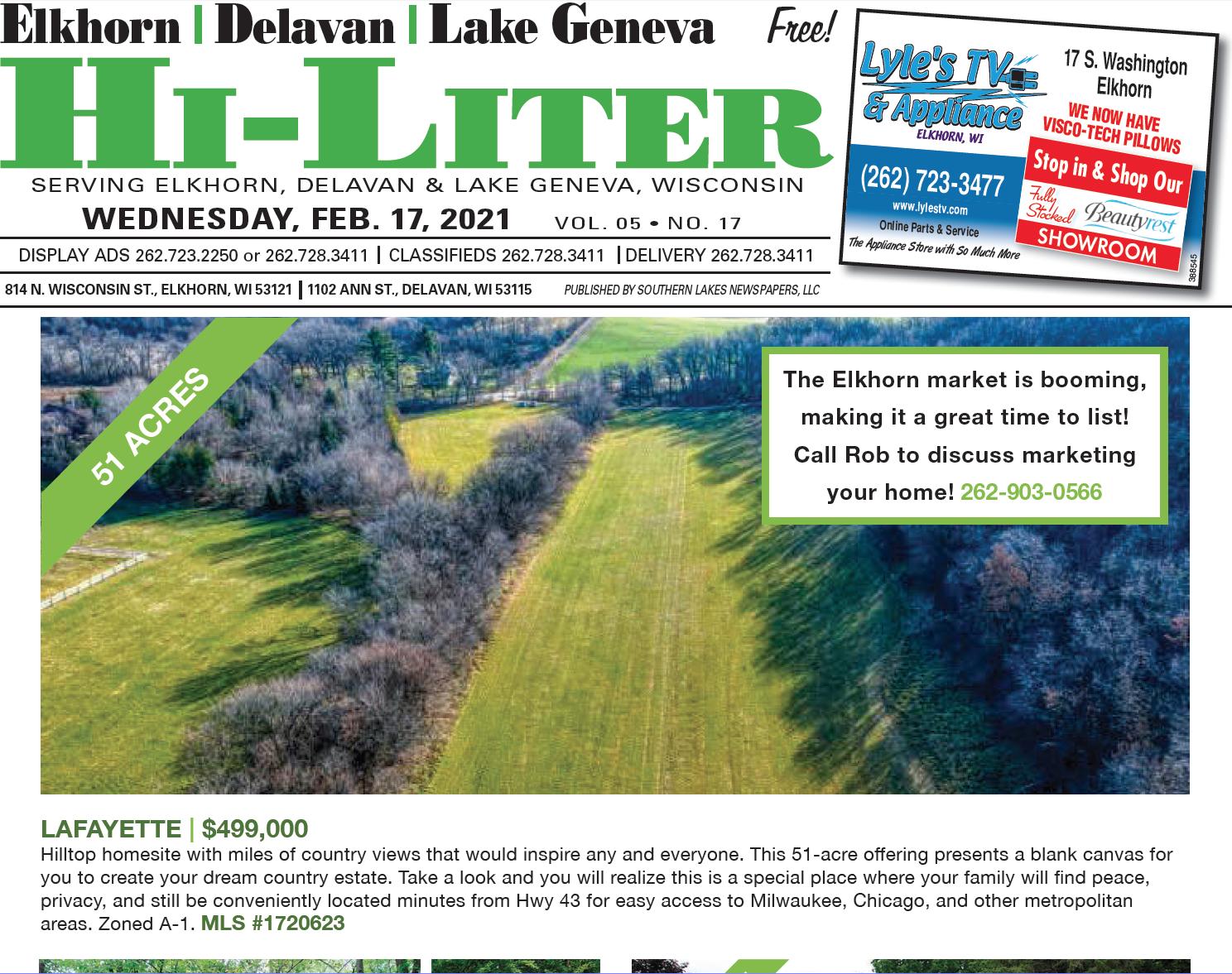 Hi-Liter Elkhorn/Delavan/Lake Geneva 2/17/2021