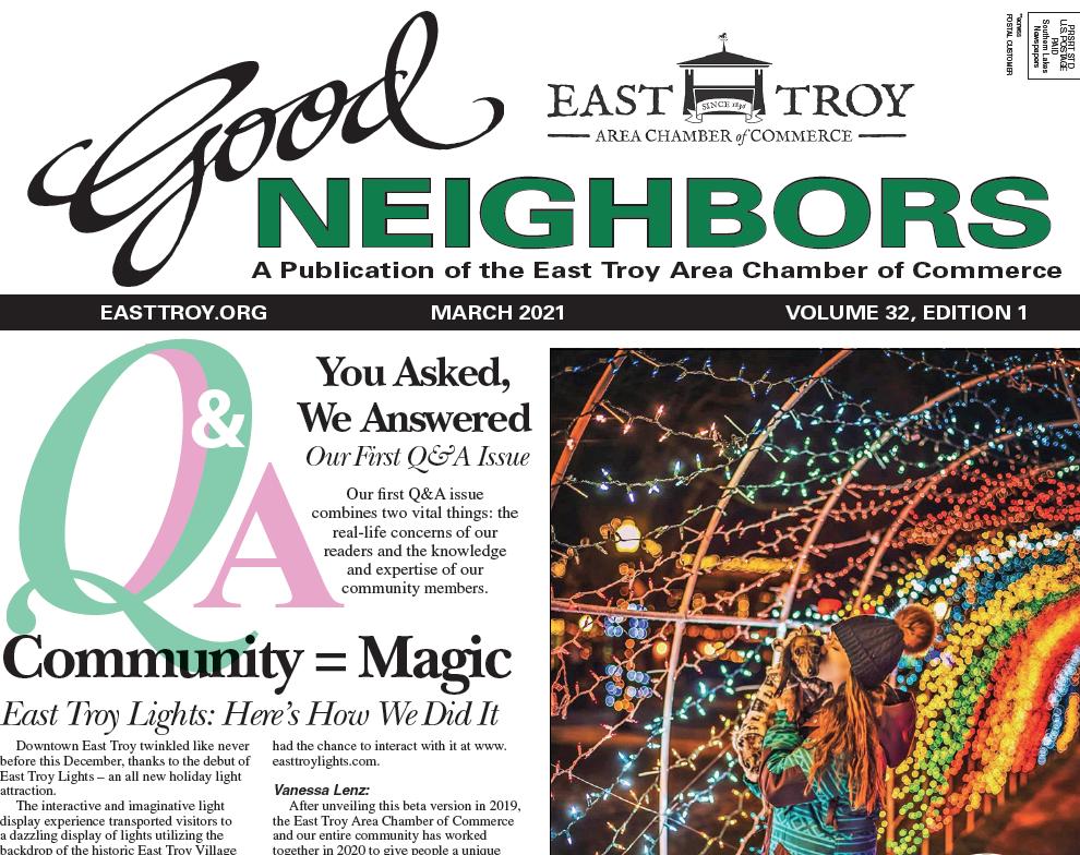 East Troy Good Neighbors March 2021