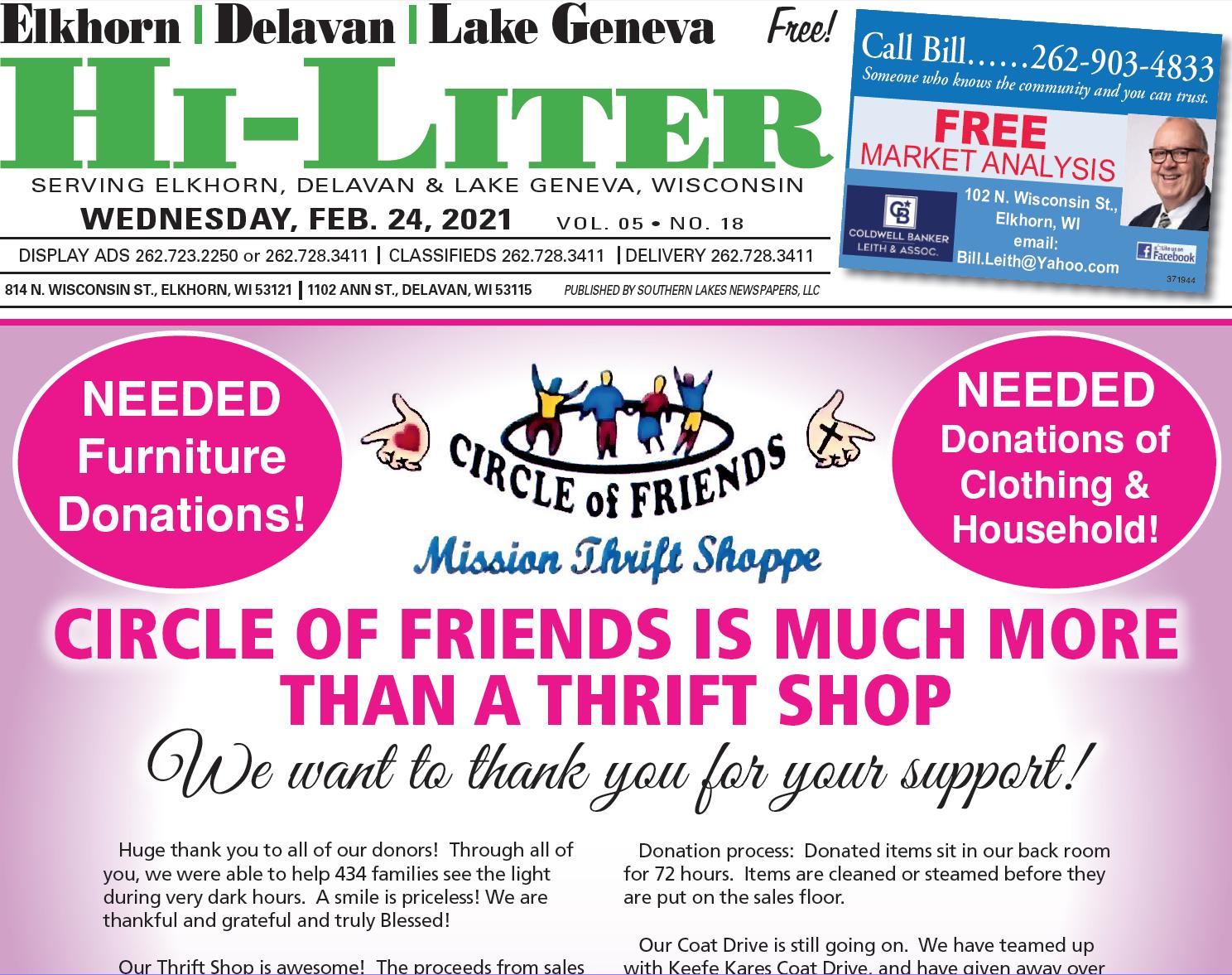 Hi-Liter Elkhorn/Delavan/Lake Geneva 2/24/2021